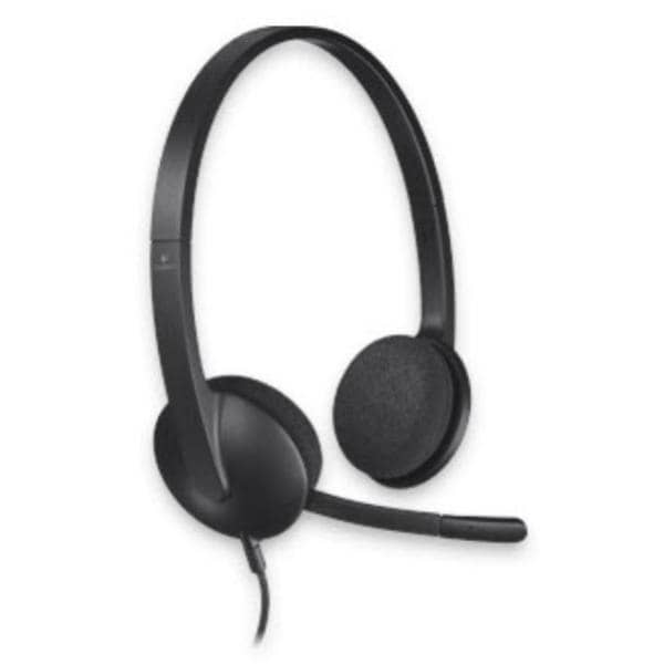 Logitech Wired USB Headset H340, Black, Noise Cancelling MIC, 1.8m Cable