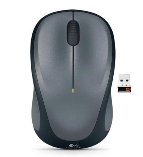 Logitech Wireless Mouse M235, 3 Button, USB Receiver, Scroll Wheel, Colour: Colt Glossy  Black, 1 AA battery (pre-installed)