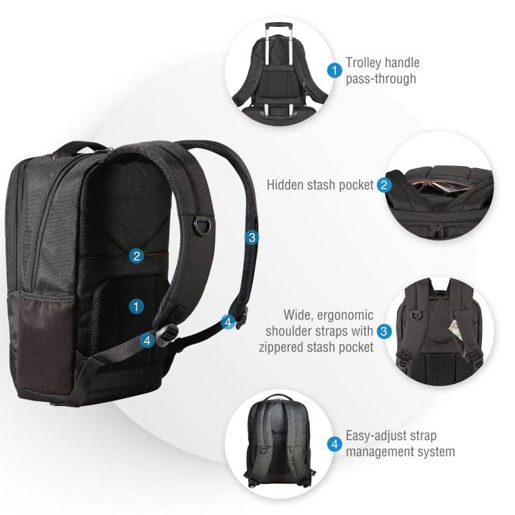 "Everki 14.1"" Studio Slim Backpack Perfect for MacBook Pro 15"