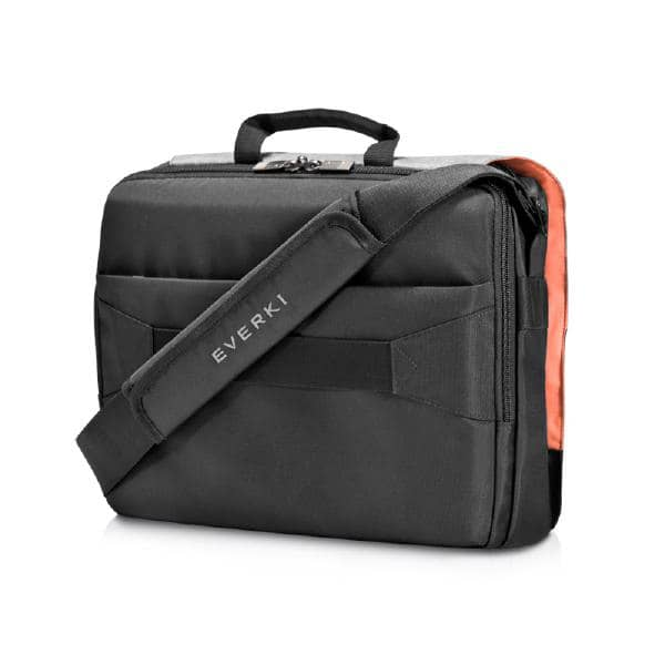 "Everki ContemPRO Laptop Shoulder Bag Black, up to 14.1""/ MacBook Pro 15 with Dedicated Tablet/iPad/Pro/Kindle compartment up to 13"""