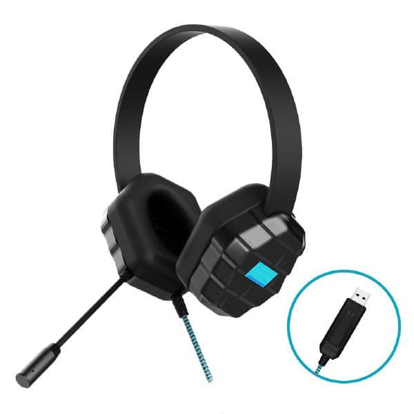 Gumdrop DropTech USB B2 Rugged Headset  - Compatible with all devices with USB connector