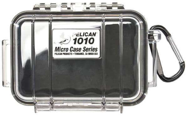 Pelican 1010 Micro Case - Clear with Black