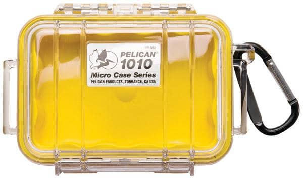 Pelican 1010 Micro Case - Clear with Yellow