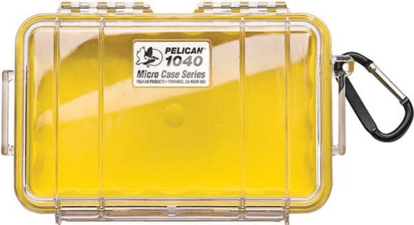 Pelican 1040 Micro Case - Clear with Yellow