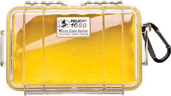 Pelican 1050 Micro Case - Clear with Yellow