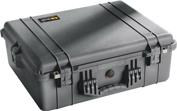 Pelican 1600 Large Protector Case Black with Pick N Pluck Foam Insert. Internal Dimensions of 54.6 x 42 x 20.3 cm
