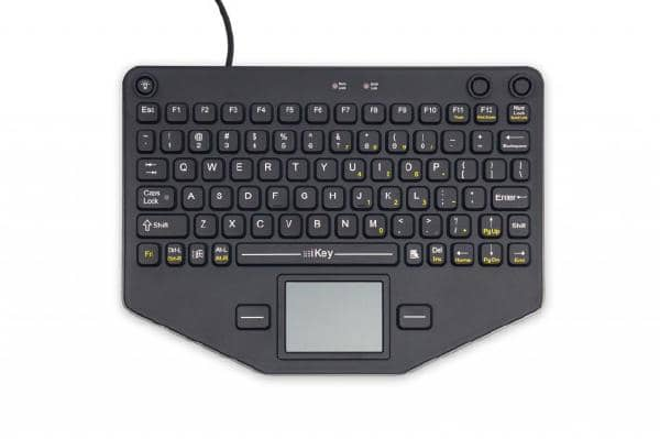 iKey SL-80-TP Compact Mobile Keyboard with Touchpad (USB / VESA Mount)