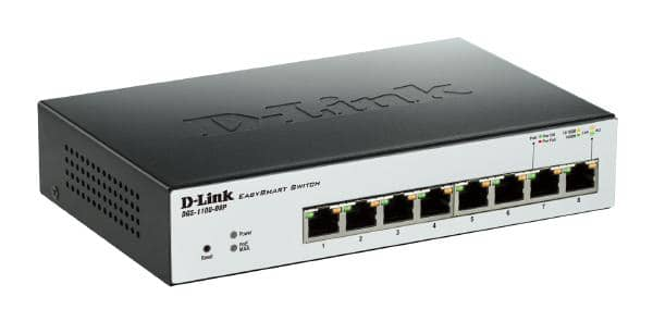 D-LINK DGS-1100-08P 8-Port Gigabit EasySmart PoE Switch