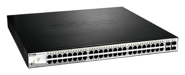 D-LINK DGS-1210-52MP 52-Port Gigabit WebSmart PoE Switch with 48 PoE UTP and 4 SFP Ports