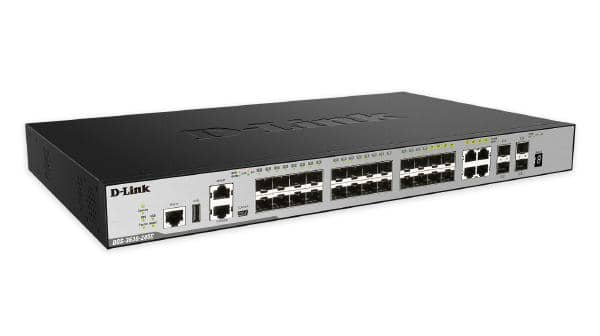 D-LINK DGS-3630-28SC 28-Port Layer 3 Stackable Managed Gigabit Switch including 4 10GbE Ports