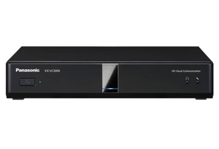 Panasonic KX-VC2000 New HDVC Main Unit - Full HD, 24 site multi point connection, Dual Stream, Multi (3) monitor support, Dual Network