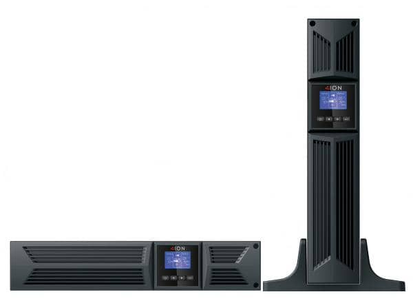 ION F18 1000VA / 900W Online UPS, 2U Rack/Tower, 8 x C13 (Two Groups of 4 x C13). 3yr Advanced Replacement Warranty. Rail Kit Inc.