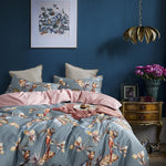 Parrot Print Silky Cotton Duvet Cover Set (4/6 Pieces) - The Urban Pride