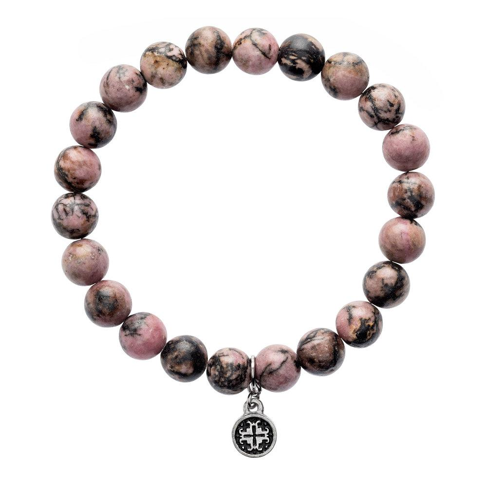 Rhodonite Stretch Bracelet (8mm) - malaandmantra