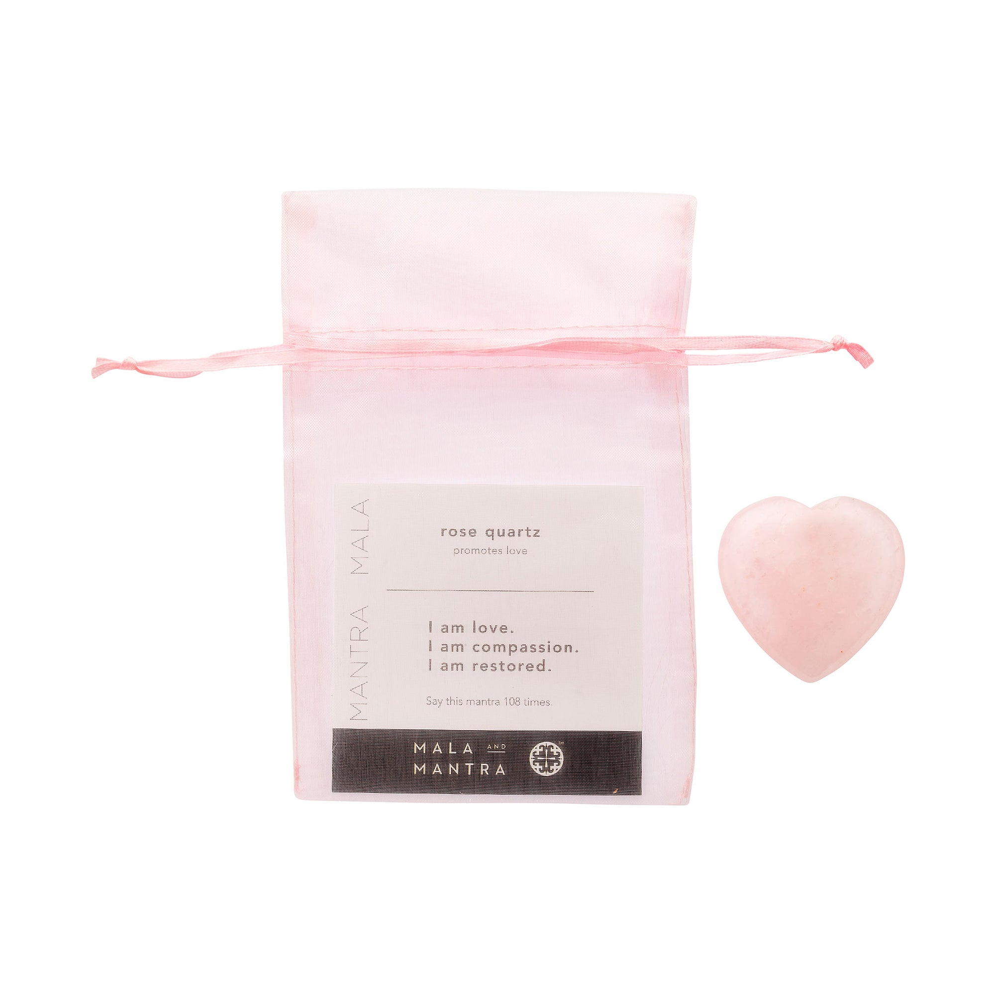BE LOVE: Rose Quartz Heart Gift Set