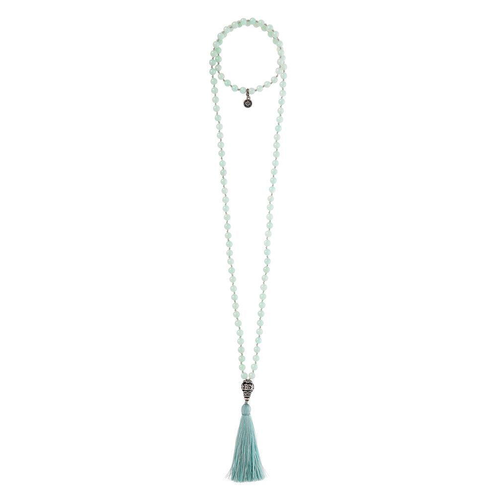 108 Bead Amazonite Mala Necklace - malaandmantra