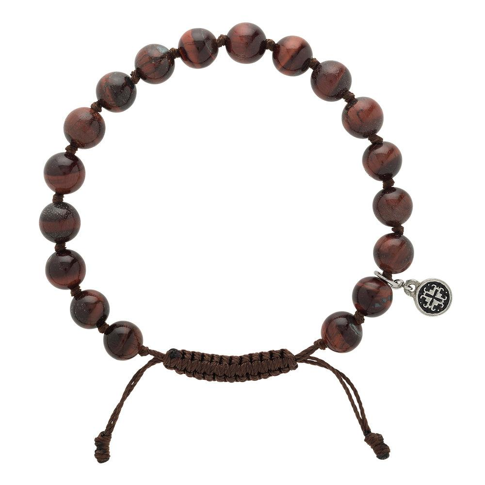 Red Tiger's Eye Men's-Unisex Mala Bracelet - malaandmantra