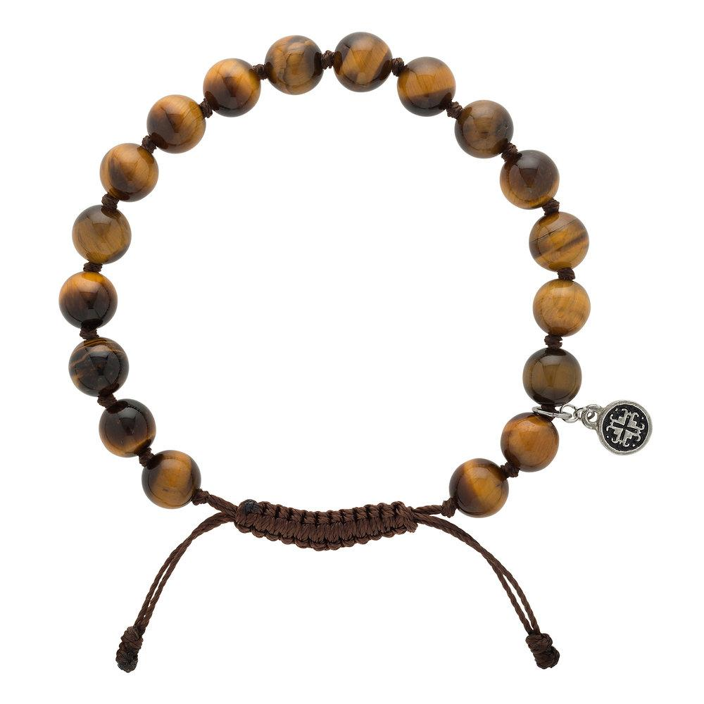 Tiger's Eye Men's-Unisex Mala Bracelet - malaandmantra