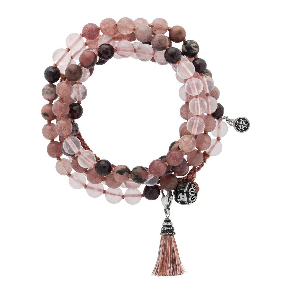 Love Adjustable Wrap Mala - malaandmantra
