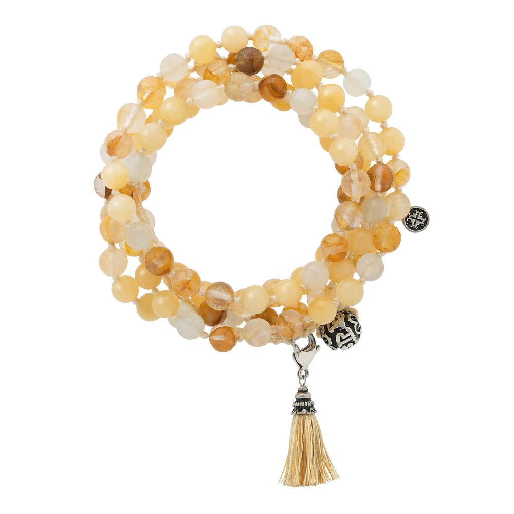Empowerment Adjustable Wrap Mala - malaandmantra