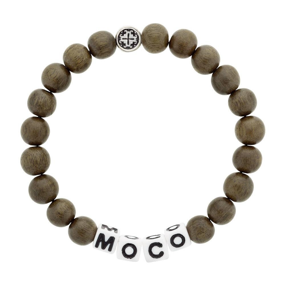 MOCO (more compassion) Greywood Stretch Unisex Mala Bracelet (8mm) - malaandmantra