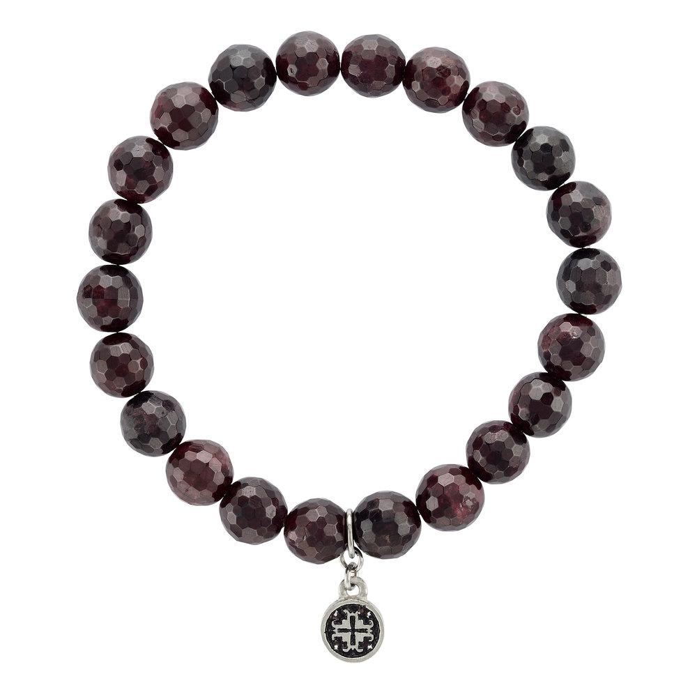 Garnet Stretch Bracelet (8mm) - malaandmantra