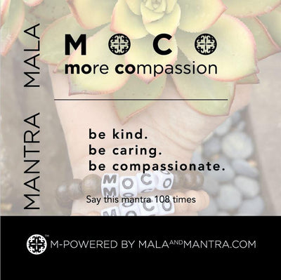 MOCO (more compassion) Rosewood Stretch Unisex Mala Bracelet (8mm) - malaandmantra