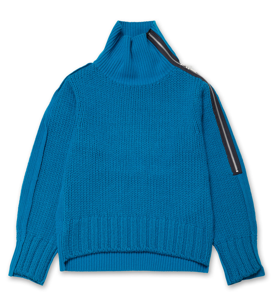 Wool Knit Pullover w/Zip