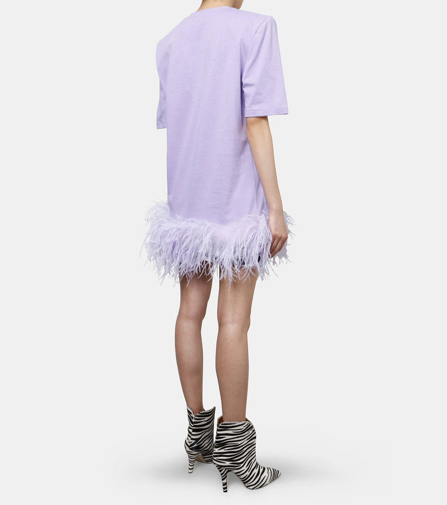 T-shirt Dress w/Feather