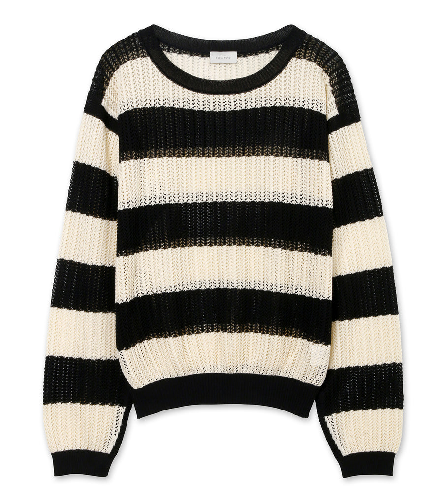 MESH SWEATER STRIPE