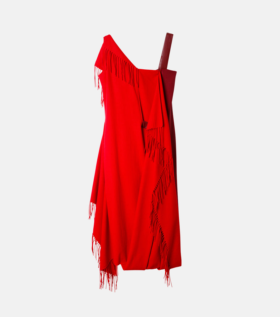 Fringe Scarf Dress