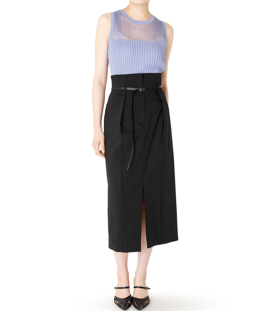 Belted High Waited Skirt