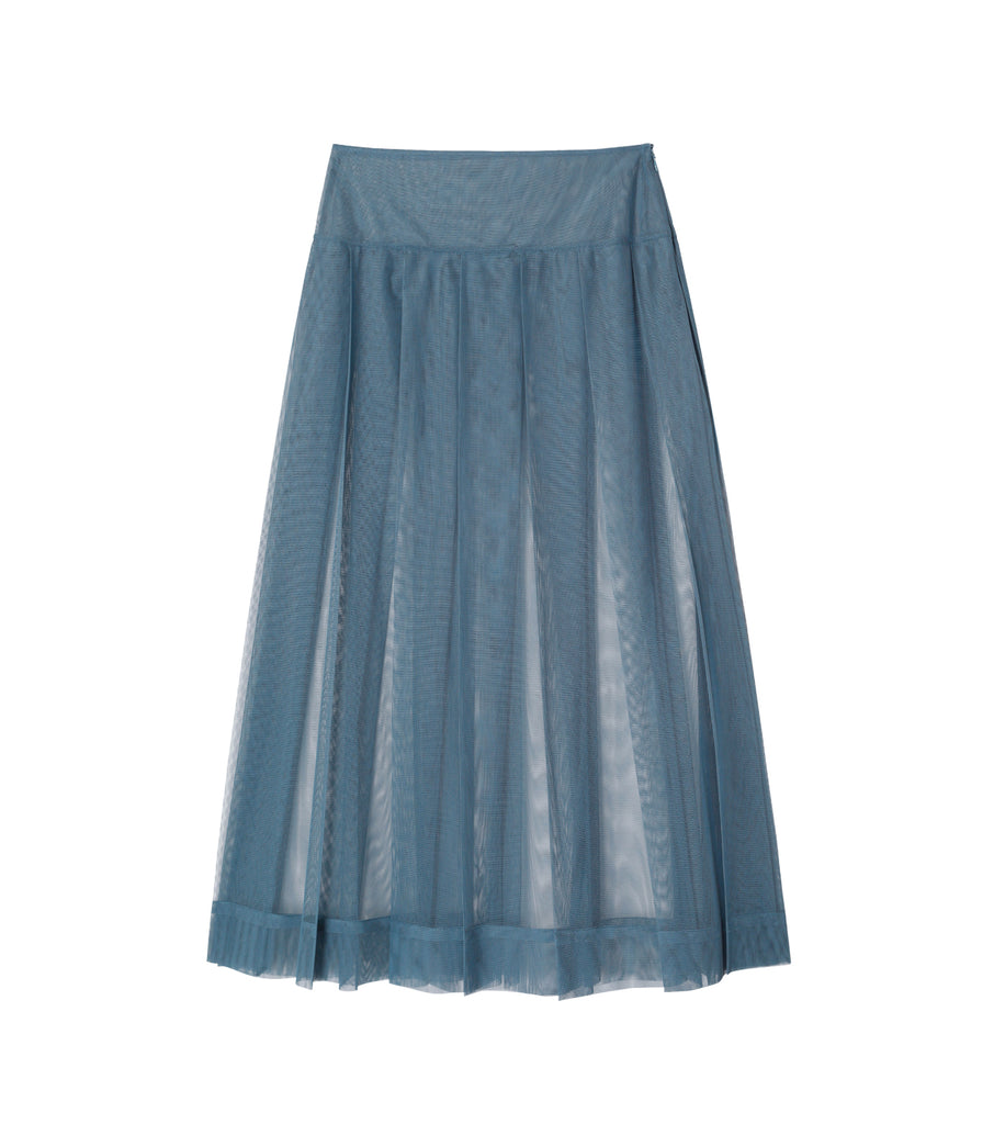 Tulle Tucked Skirt