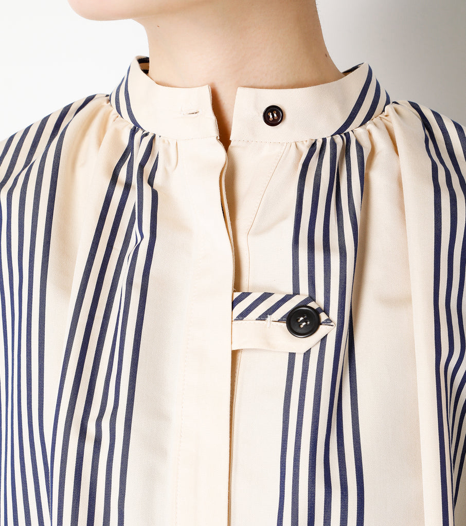 Buffant Sleeve Shirt (Stripe)