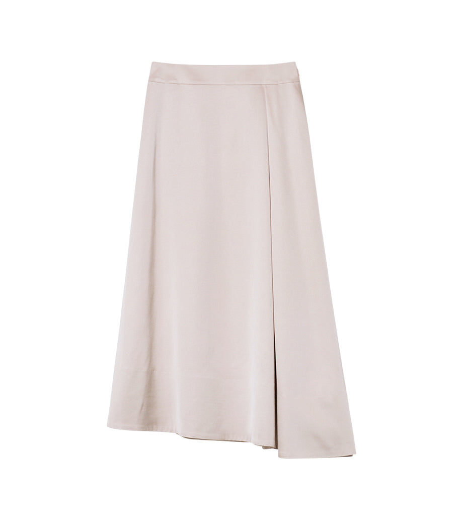 Vis Wool Satin Skirt