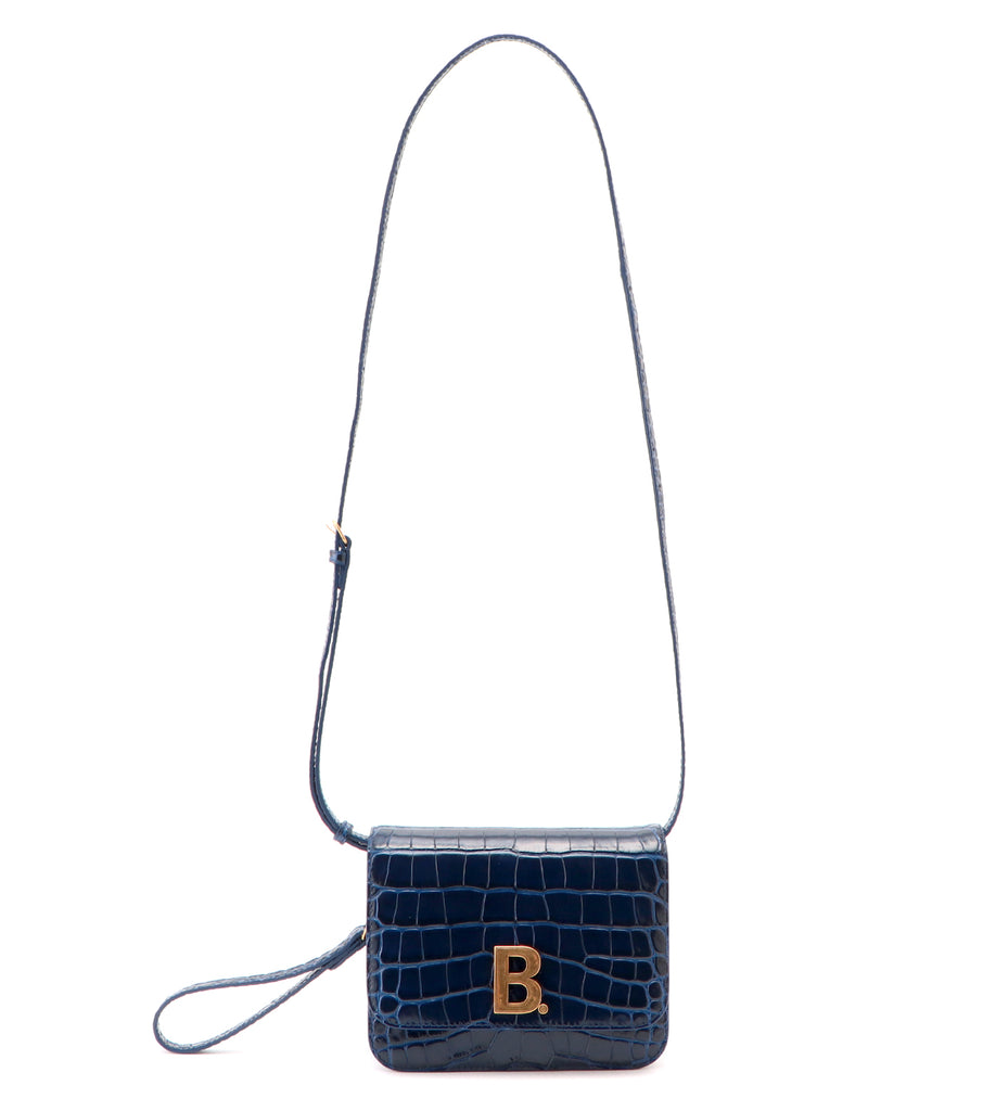 B Bag S Embossed Croco