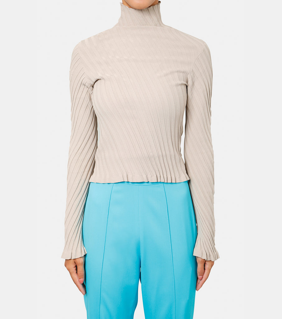LS Turtleneck Twist Rib