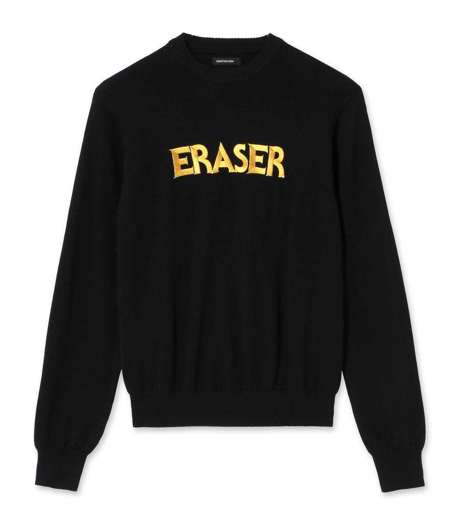 ERASER Embroidered Knit Sweater