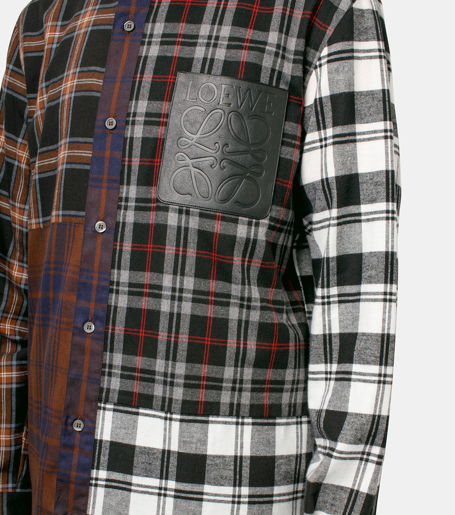 CHECK PATCHWORK SHIRT