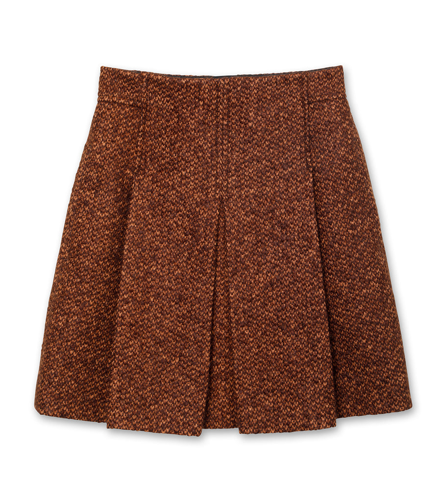 Brushed Tweed Mini Skirt