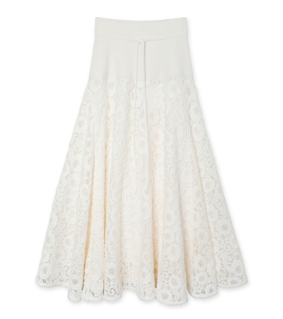 Wool Knit & Lace Skirt