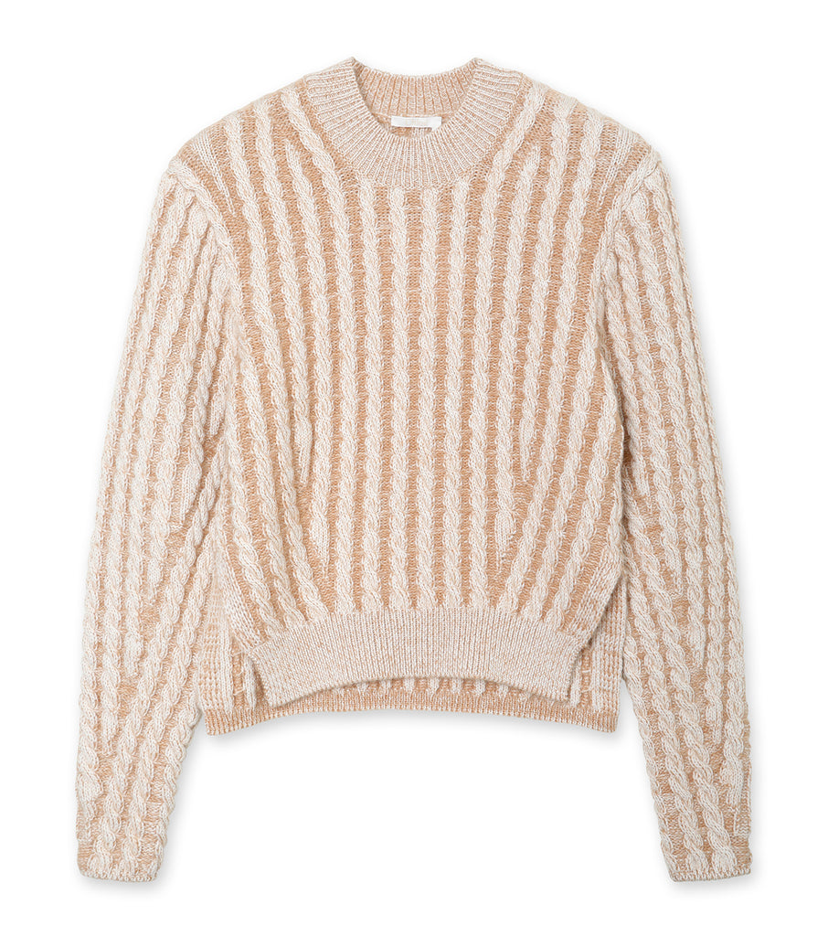Fluffy Cable Knit