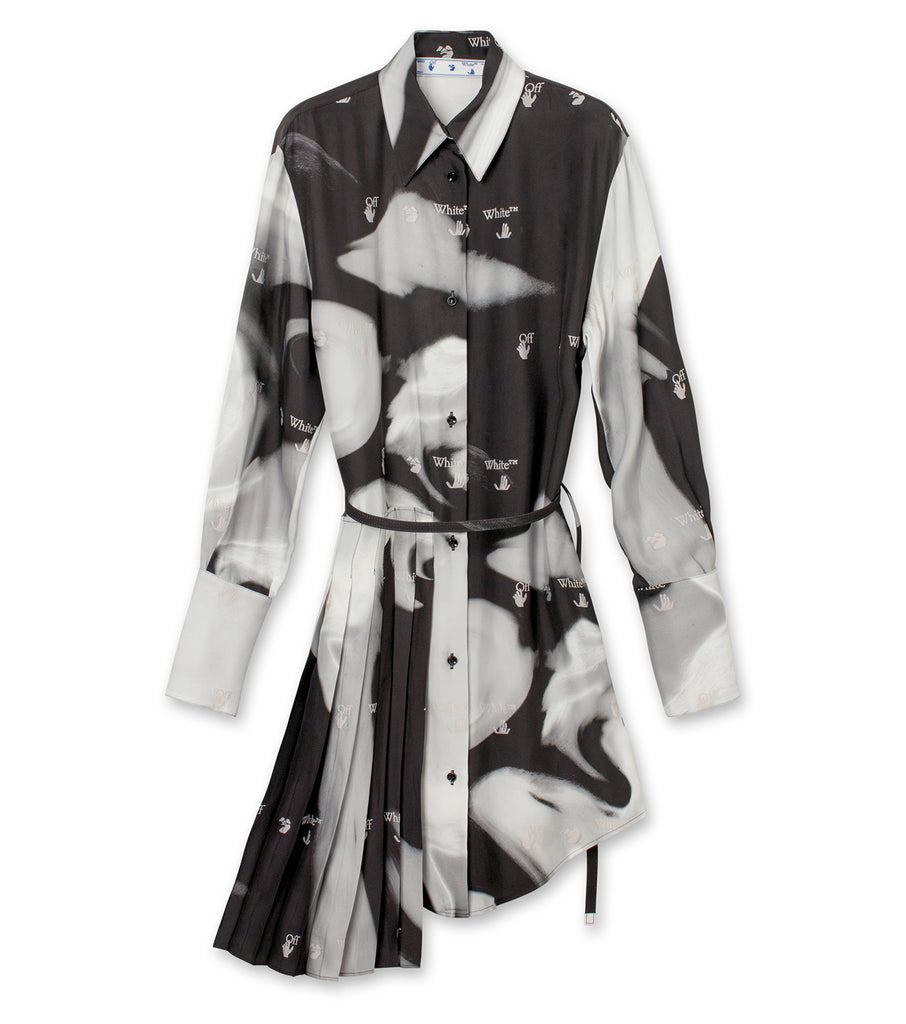 Liquid Melt Plisse Shirt Dress