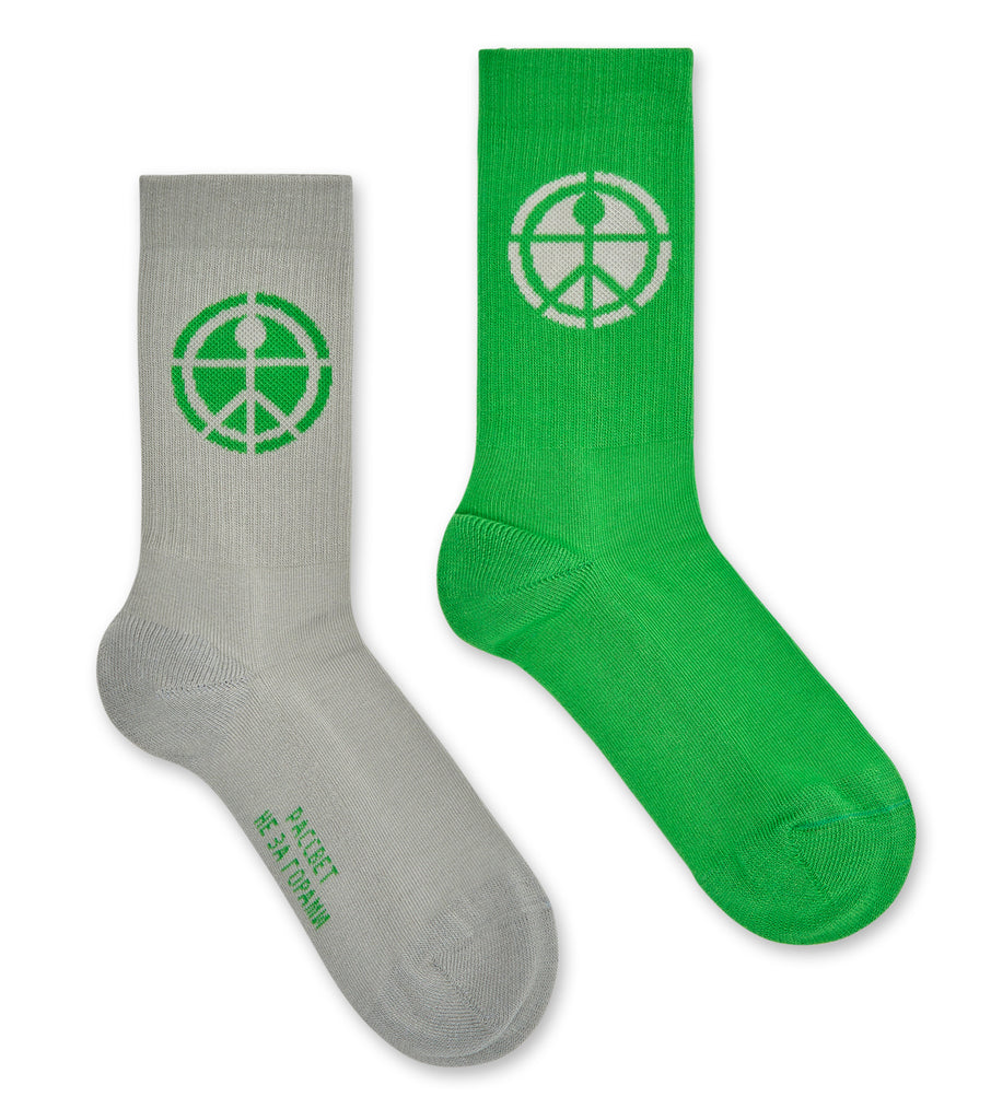 TWO TONE JAQUARD SOCKS