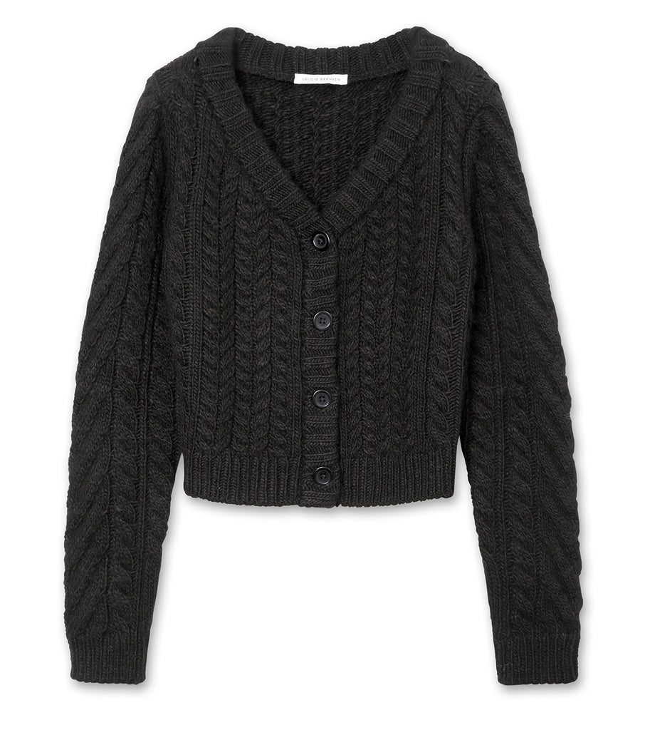 Cable Knit Jumper w/Collar