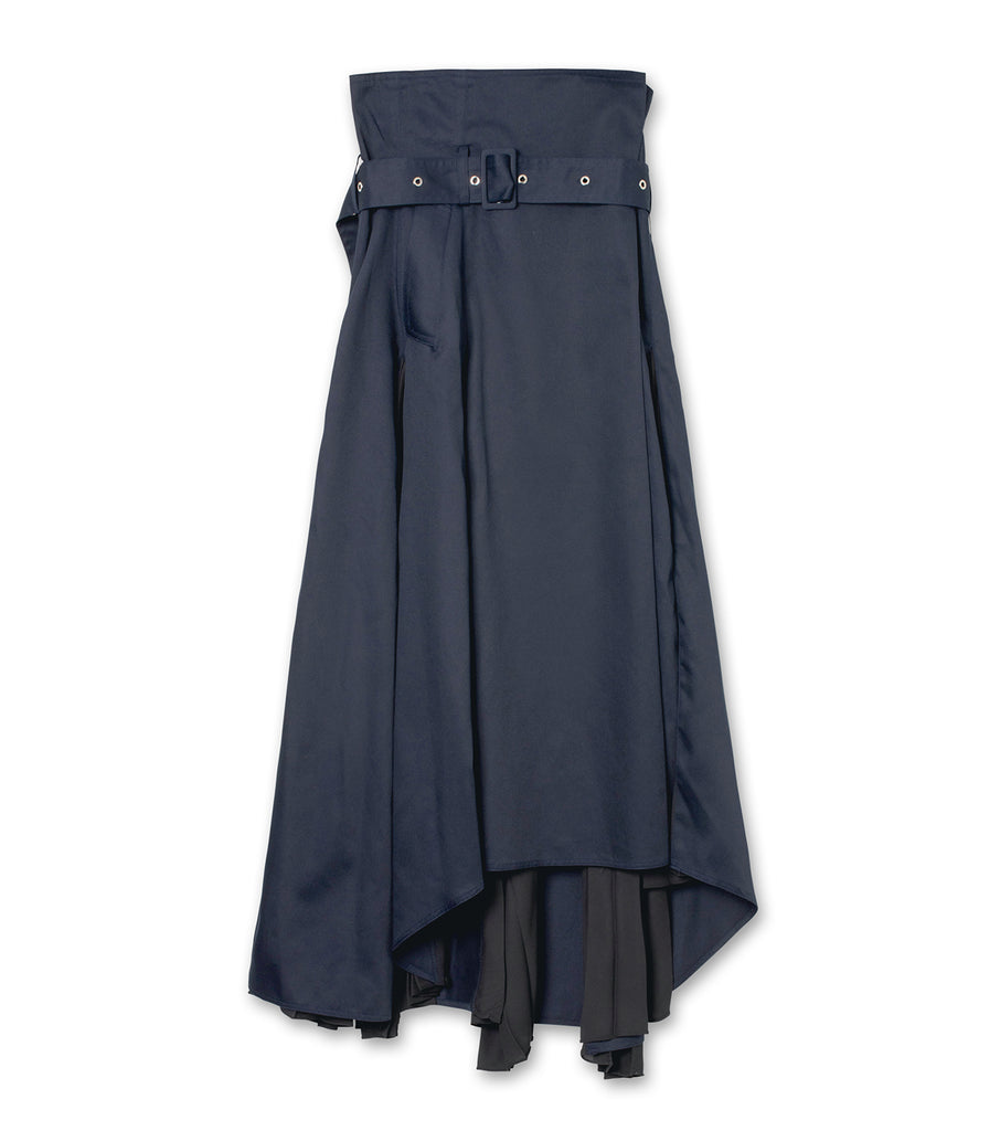 High-rise Pleated Panel Skirt