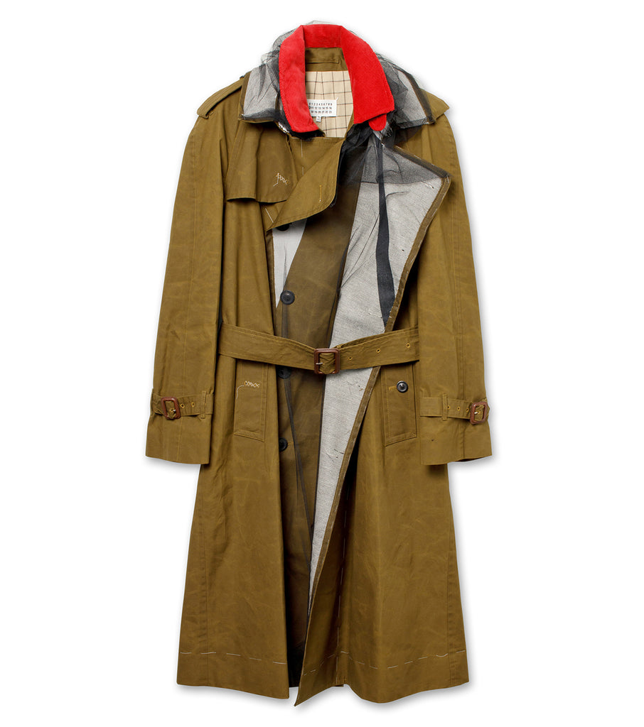 Dry Wax Trench Coat