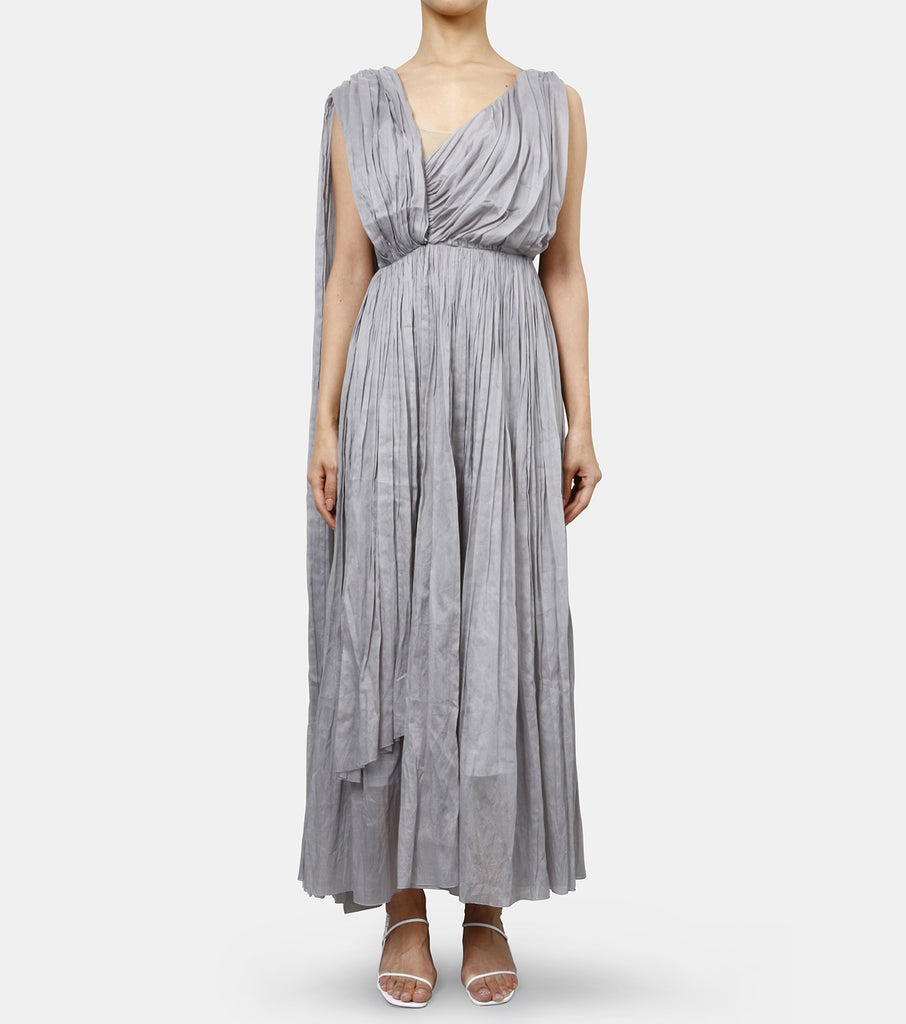 Asymmetric Draped Goddess Dress