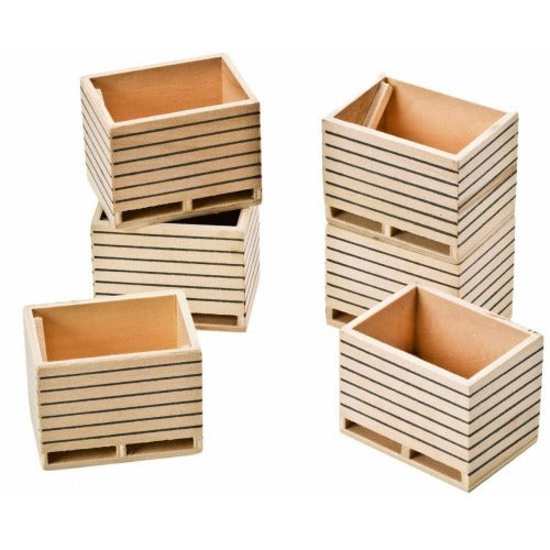 Kid's Globe Wooden Potato Boxes 6 Pack
