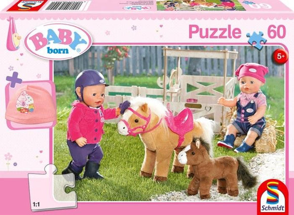 Baby Born On a Pony Farm 60 Piece Puzzle with gift - McGreevy's Toys Direct